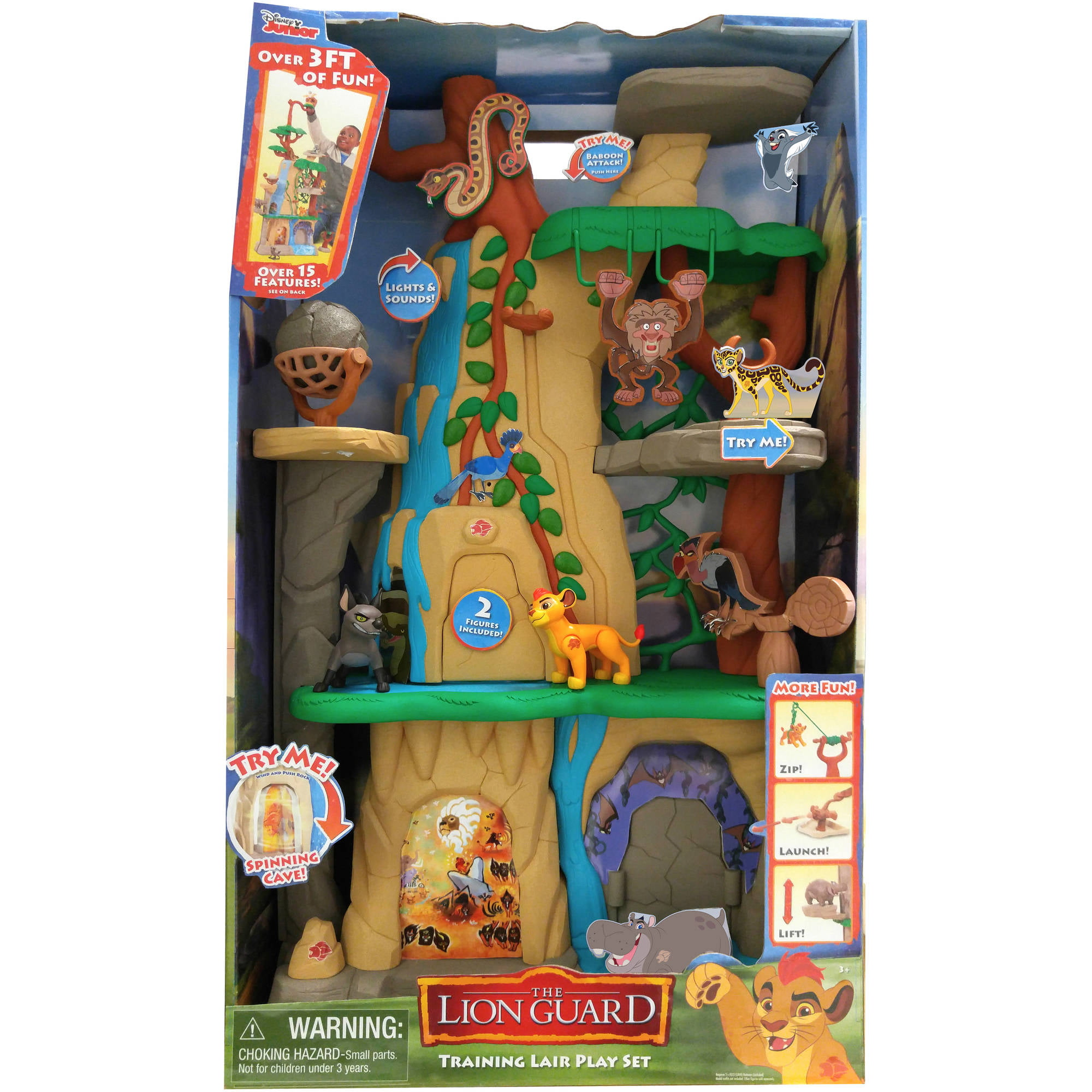 Disney Lion Guard Training Lair Sound Light Cave Playset