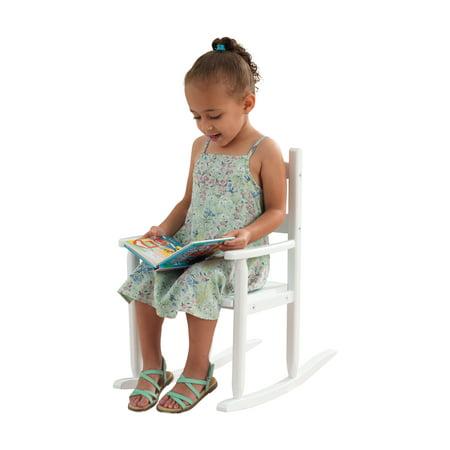 KidKraft Classic Rocking Chair - White (Unfinished Wood Childrens Rocker)