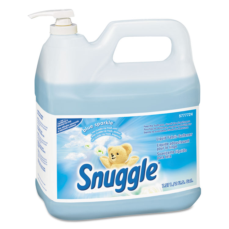 Liquid Fabric Softener, Blue Sparkle, Floral Scent, 2 Gal Bottle, 2/carton