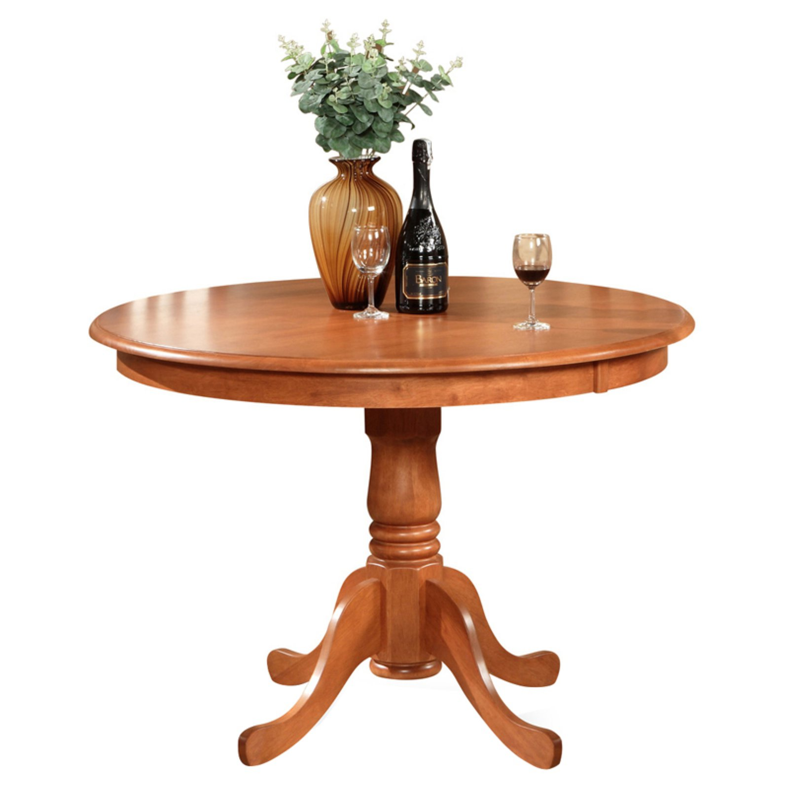 East West Furniture Hartland 42 Inch Round Pedestal Dining Table    Walmart.com