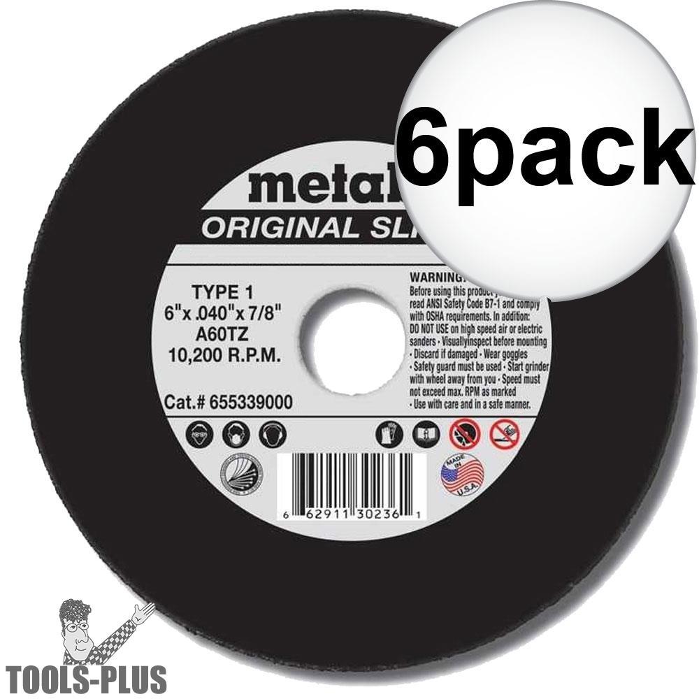 """Metabo 55334 5x040x7/8"""" Original Slicer 6-Pack"""