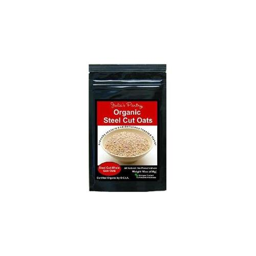 Julias Pantry JP432 Organic Whole Grain Steel Cut Oats 1lb, Pack of 4