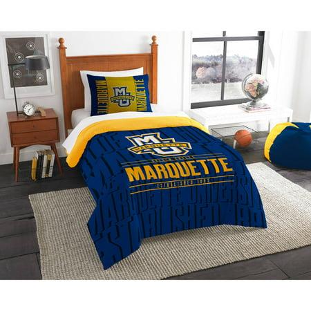 "NCAA Marquette Golden Eagles ""Modern Take"" Bedding Comforter Set"