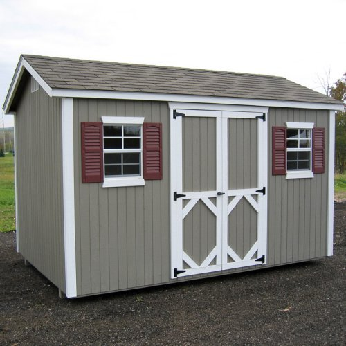 Little Cottage 12 x 10 ft. Classic Wood Workshop Panelized Garden Shed