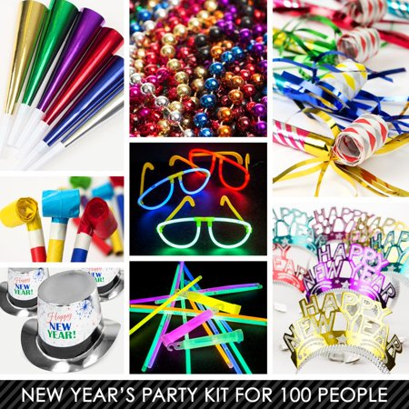 Multi-Color New Years Kit (For 100 Guests) - New Year Eve ...