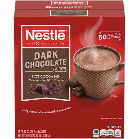 Nestlé Dark Hot Chocolate 50 single serve packets - Snowman Hot Chocolate