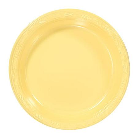 Hanna K, Plastic Plate, 9u0022, Yellow, 50ct