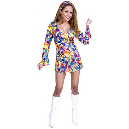60s Flower Power Adult Costume - (Flower Power 60's Hippie Costume)