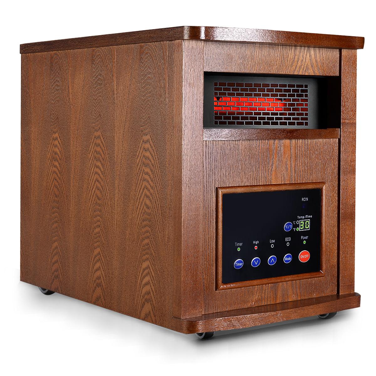 Costway 1500w Pro 6 Element Infrared Quartz Heater Large ...