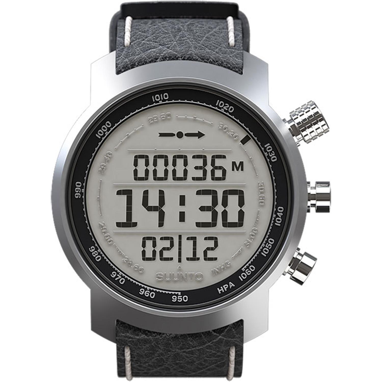 Men's Elementum Terra Black Leather SS014523000 Digital Leather Quartz Watch