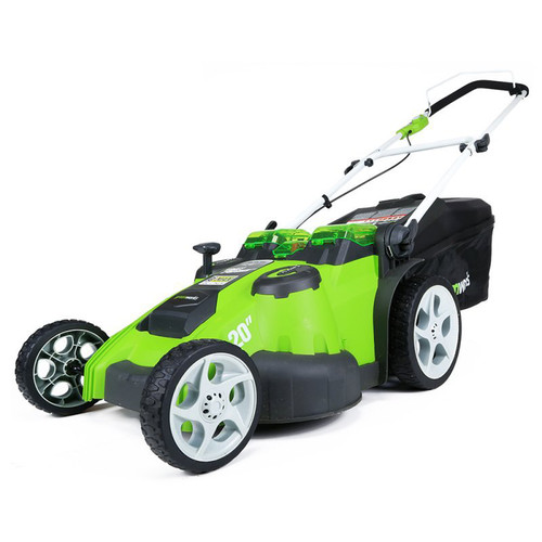 Greenworks 25302 40V G-MAX Cordless Lithium-Ion 20 in. 2-in-1 Twin Force Lawn Mower