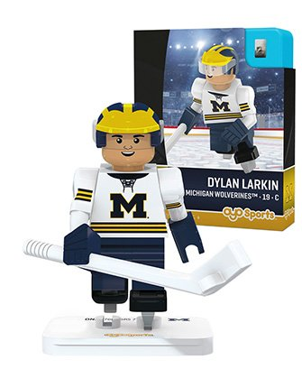 NCAA Michigan Wolverines Dylan Larkin Hockey Minifigure, Black, Small By OYO Ship from US by