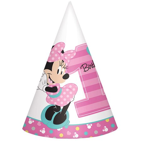 Minnie's Fun To Be One paper Cone Hats (8 (Fun Cone Hat)