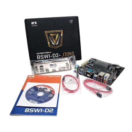 BSWI-D2-J3060 ECS V1.0 Intel J3060 Processor DDR3 SATA3 Motherboard CPU Combo US Motherboard & CPU - Ready To Go Combos ()