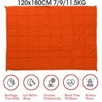 "Asewin Premium Adult Weighted Blanket 48""x72""' 15/20/25lbs Reduce Stress Heavy Sensory Anxiety,Orange"