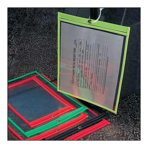BAW PLASTICS SEWNHDR 12X15ORN Shop Env, 15 x 12 In, Fluor Orn, Plstc, PK50