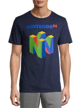 Nintendo 64 Logo Men's and Big Men's Graphic T-Shirt