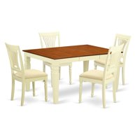 East West Furniture Weston 5 Piece Empire Dining Table Set