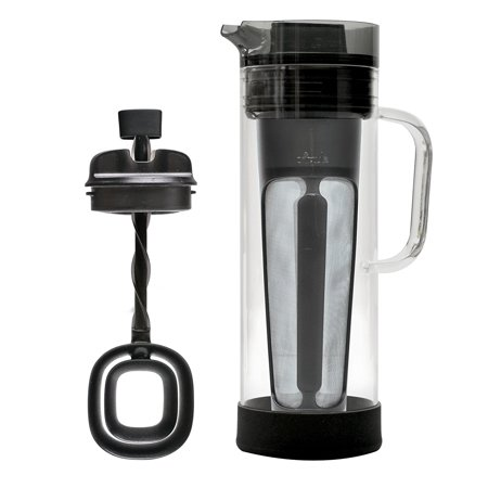 Cold Brew Glass Coffee Maker – Borosilicate Glass Carafe and Stainless Steel Mesh