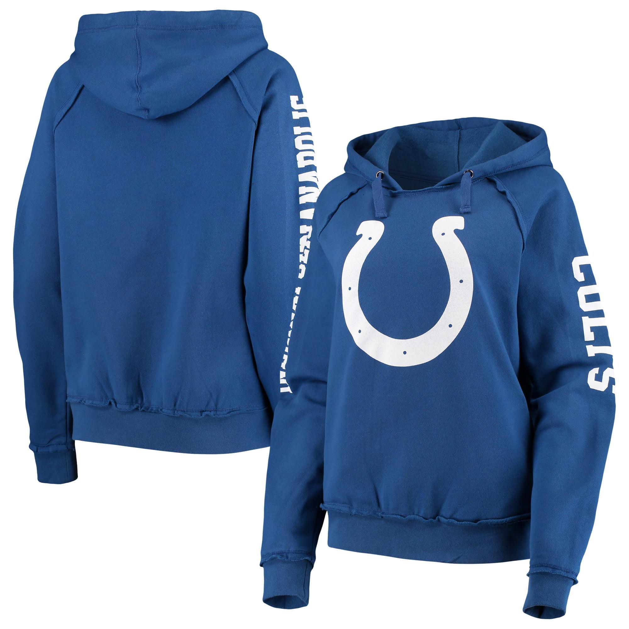 Indianapolis Colts New Era Women's Fleece Raglan Pullover Hoodie - Royal