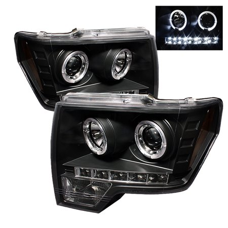 Spyder Ford F150 09-14 Projector Headlights - Halogen Model Only ( Not Compatible With Xenon/HID Model ) - LED Halo - LED ( Replaceable LEDs ) - (2007 F150 4 Wheel Drive Not Engaging)