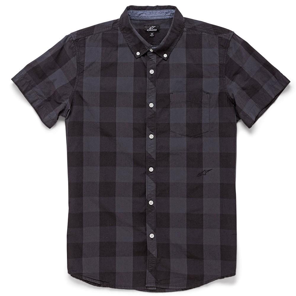 Alpinestars Variance Mens Short Sleeve Plaid Woven Shirt Black