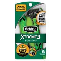 Schick Xtreme3 Sensitive Men's Disposable Razors, 8 Ct