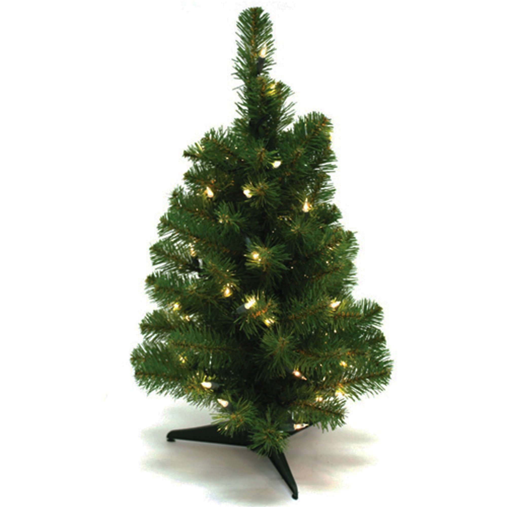 Wideskall® Tabletop Christmas Pine Tree 2 Feet Artificial with 30 LED Warm White Lights
