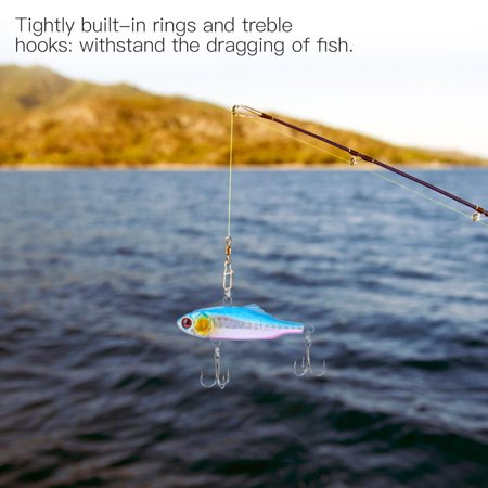 Sonew 6pcs Durable ABS Hard Fishing Bait Lure Crankbait Treble Hooks Finshing Tackle Accessory,Fishing Bait, Fish Lures - image 3 of 8