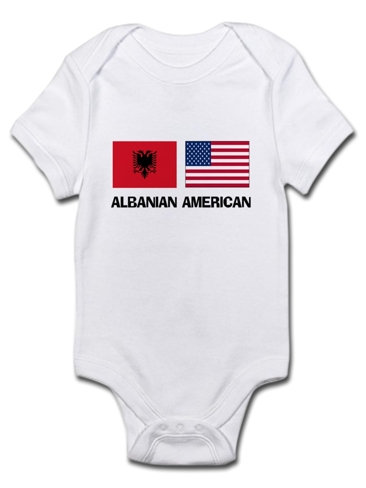 06ccaba60c11 CafePress - Albanian American Infant Bodysuit - Baby Light Bodysuit ...
