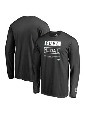 Dallas Fuel Fanatics Branded Overwatch League Double Down Long Sleeve T-Shirt - Black