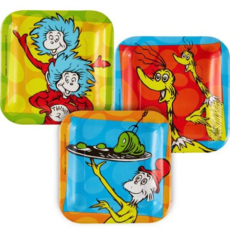 Dr. Seuss 'Polka Dots' Small Paper Plates (8ct)