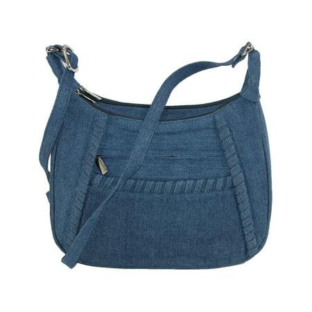 - Size one size Denim Shoulder Handbag with Adjustable Strap, Denim