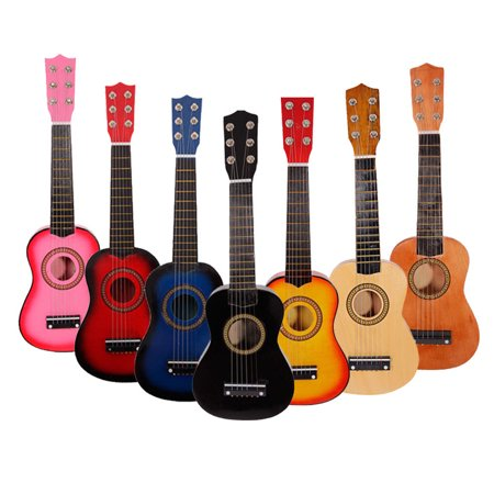 Small Guitar (21 Inch Acoustic Guitar Small Size Portable Wooden Guitar for Children Kids Beginners (Sun)