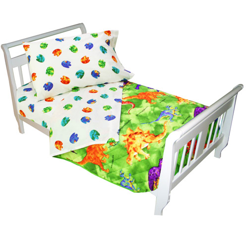 Crayola Dinosaur 4-Piece Toddler Bedding Set