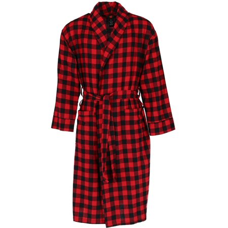 Men's Big and Tall Cotton Flannel Robe,  - Big And Tall Robe