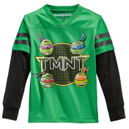 Teenage Mutant Ninja Turtles Boys Green Jersey T Shirt