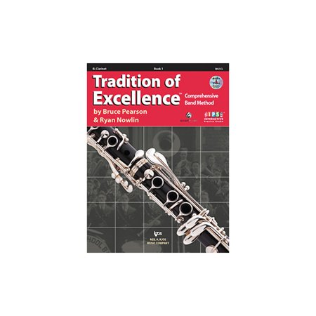 B-flat Clarinet Music Book - KJOS Tradition Of Excellence Book 1 for Clarinet