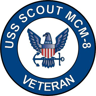 3.8 Inch USS Scout MCM-8 Veteran Decal Sticker