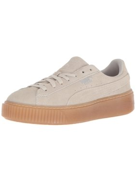 34ef13e678da Product Image PUMA 365131-02   Girls  Suede Platform Jewel Sneaker Whisper  White