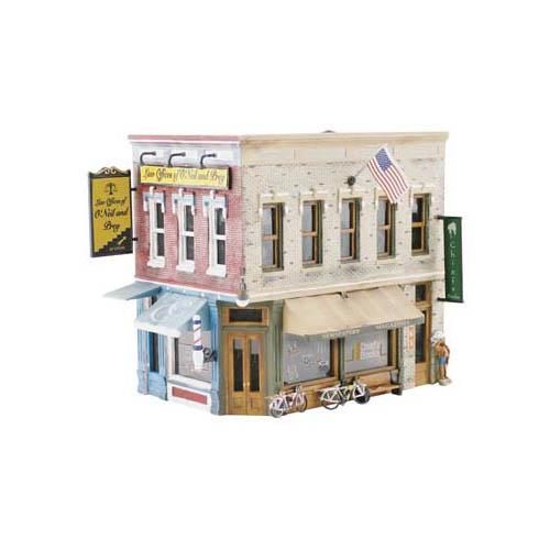 PF5182 Main Street Mercantile Pre-Fab Building HO Multi-Colored