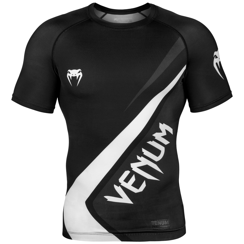 Venum Contender 4.0 Rashguard - Short Sleeves - Black/Grey/White-M