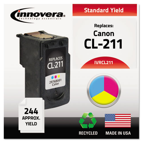 Remanufactured 2976B001 (Cl-211) Ink, 244 Page-Yield, Tri-Color