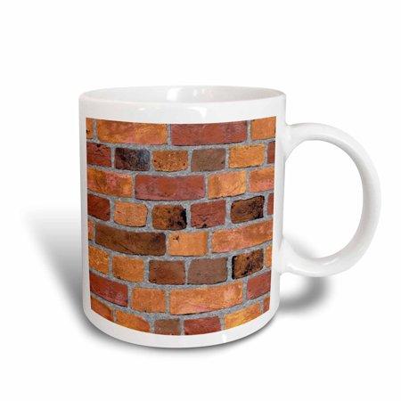 3dRose Red, brown, tan brick, Ceramic Mug, 11-ounce Bobbi Brown Bronze Shimmer Brick
