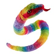 Wild Republic Plush Snake, Rainbow Fabric, Rainboa, Gift for Kids, Plush Toy, 54 Inches, Fill is Spun Recycled Water Bottles