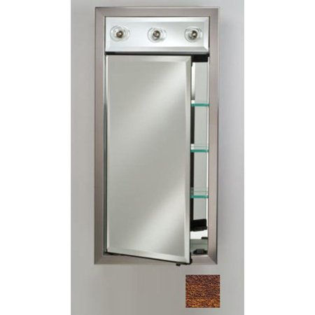 Afina Corporation SD-LC1740RTRICO 17x40 Contemporary Integral Lighted Single Door - Tribeca Hammered -