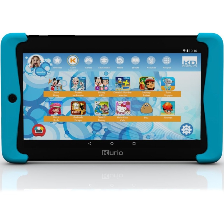 Kurio Xtreme 2 Special Edition Kid Tablet - Blue - 5.0 Android - Mediatek tablet with High Resolution -Quad Core Processor - 16GB Internal Memory Storage - Now Loaded with 4 Disney Learning Apps
