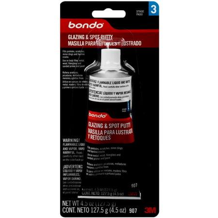 Bondo Glazing and Spot Putty, 00907ES, 4.5 oz, 1