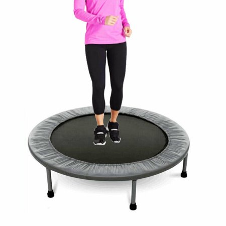 "38"" Mini Trampoline with Safety Pad, Bouncer Max Load 220lbs, Fitness Rebounder in-Home Trampoline for Kids Adults, Quiet and Safe Bounce"