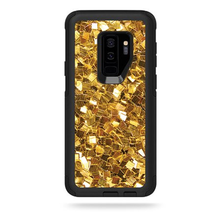 MightySkins Skin For OtterBox Commuter Galaxy S9 - Black Diamond Plate | Protective, Durable, and Unique Vinyl Decal wrap cover | Easy To Apply, Remove, and Change Styles | Made in the USA